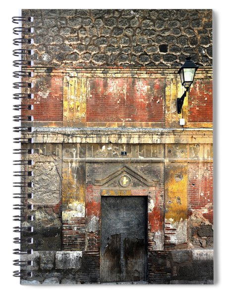 A Wall In Decay Spiral Notebook
