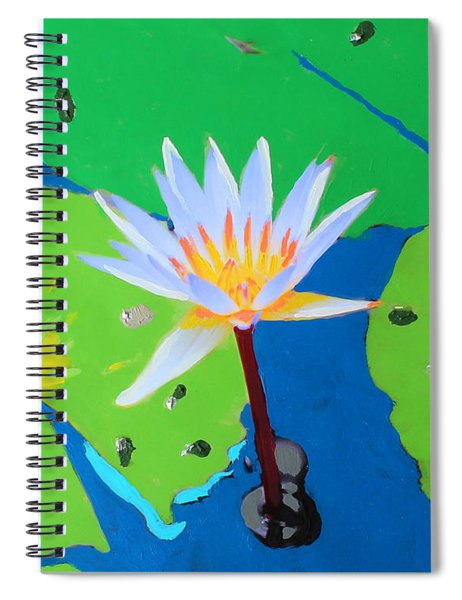 A Water Lily In Its Pad Spiral Notebook