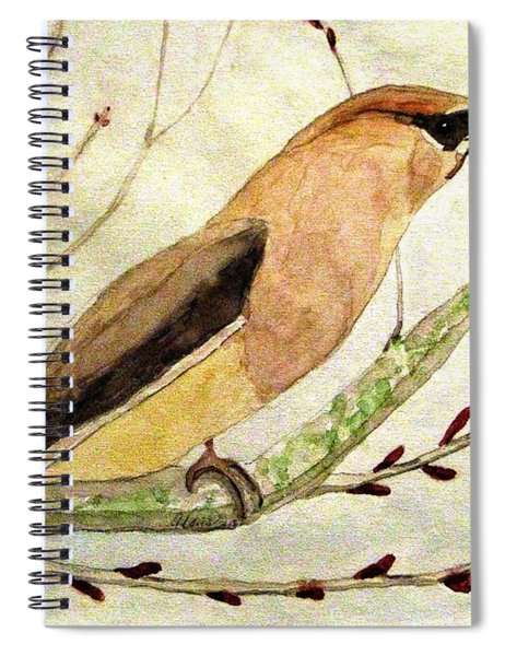 A Waxwing In The Orchard Spiral Notebook