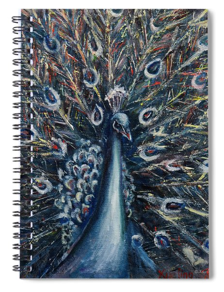 A White Peacock Spiral Notebook