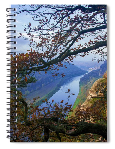 A Window To The Elbe In The Saxon Switzerland Spiral Notebook