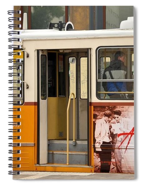 A Yellow Tram On The Streets Of Budapest Hungary Spiral Notebook