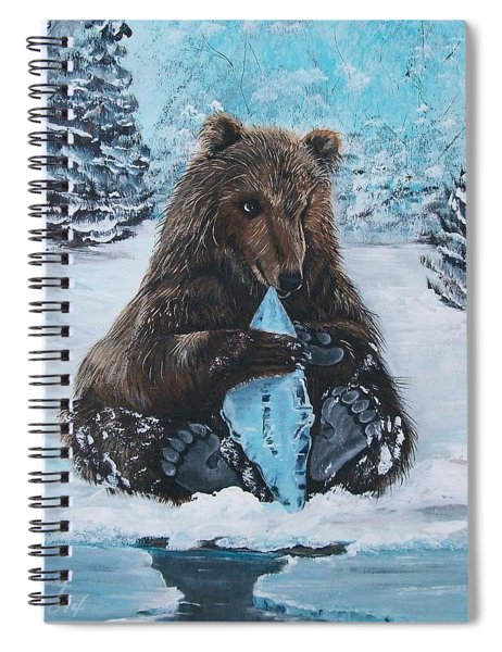 A Young Brown Bear Spiral Notebook
