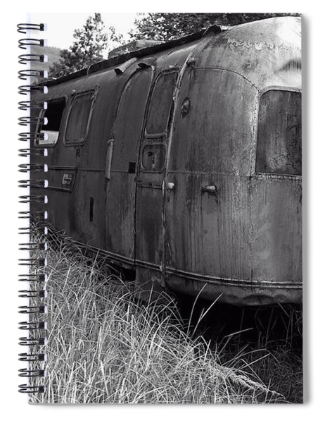 Abandoned Airstream In The Jungle Spiral Notebook
