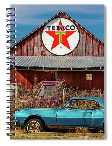 Abandoned Blue Camaro Chevrolete Spiral Notebook