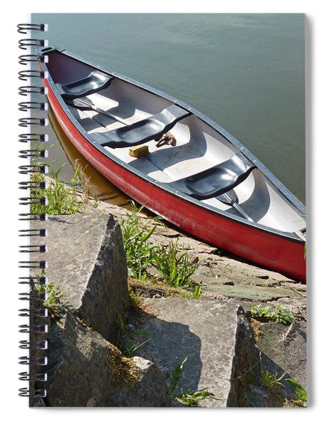 Abandoned Boat At The Quay Spiral Notebook