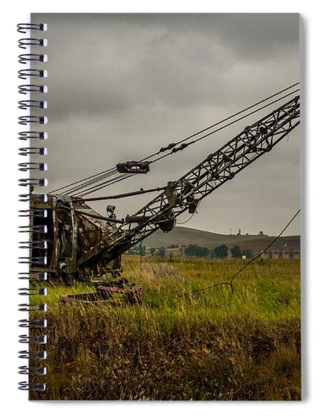 Abandoned Drag Line Spiral Notebook