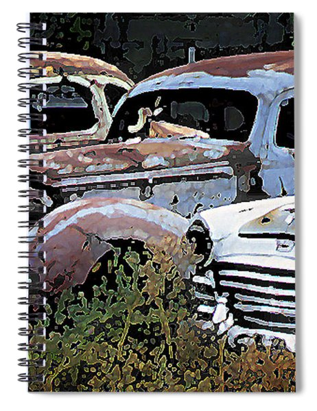 Abandoned Row Spiral Notebook