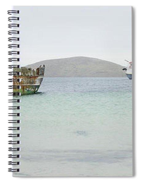 Abandoned Shipwreck Along Shoreline Spiral Notebook