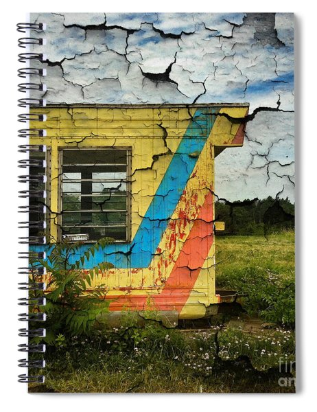 Abandoned Yellow Trailer Spiral Notebook