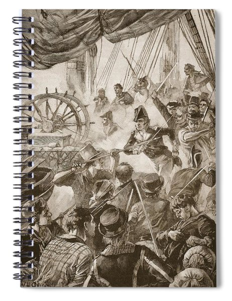 About Thirty Of The Crew Made A Small Spiral Notebook