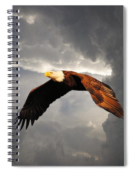 Above The Storm Spiral Notebook