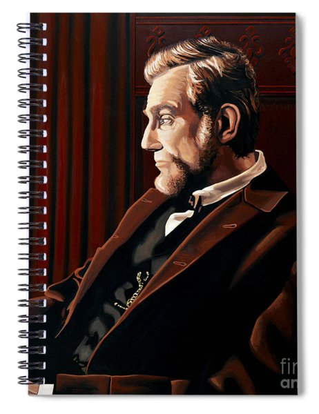 Abraham Lincoln By Daniel Day-lewis Spiral Notebook