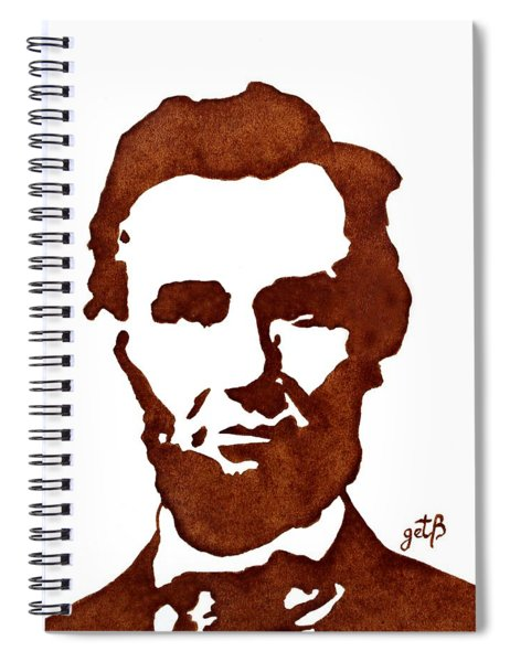 Abraham Lincoln Original Coffee Painting Spiral Notebook