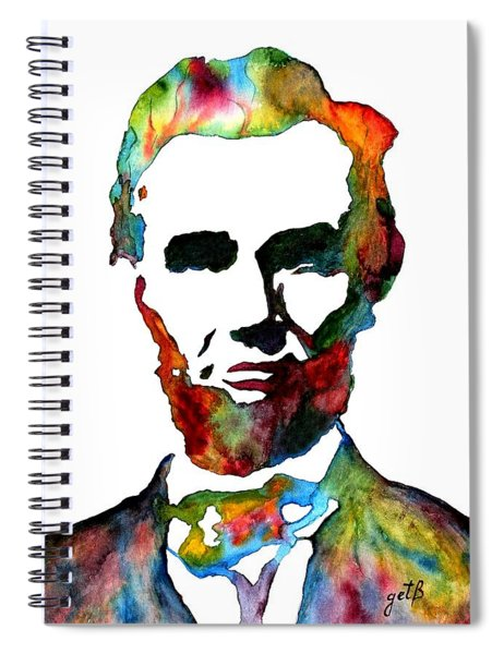 Abraham Lincoln Original Watercolor  Spiral Notebook