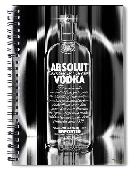 Absolut Black And White Spiral Notebook