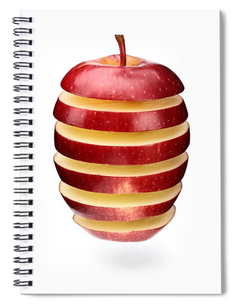 Abstract Apple Slices Spiral Notebook