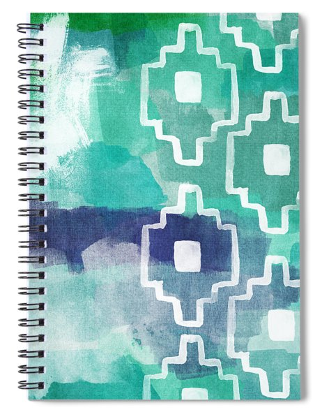 Abstract Aztec- Contemporary Abstract Painting Spiral Notebook