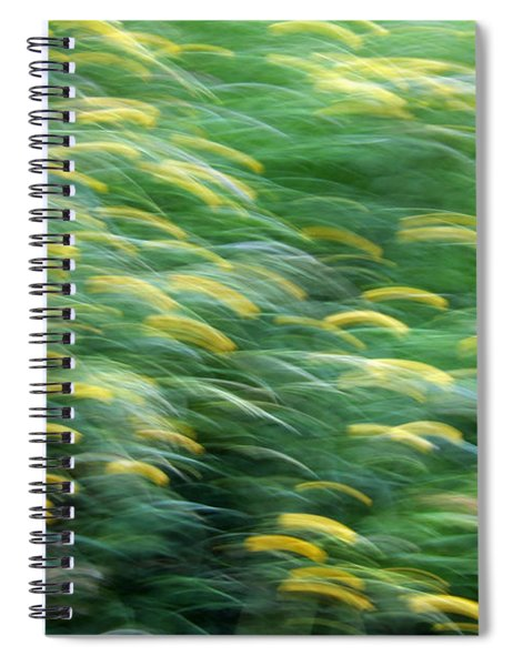 Abstract Blurred Flower Meadow In Spring Spiral Notebook