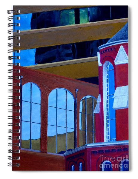 Abstract City Downtown Shreveport Louisiana Urban Buildings And Church Spiral Notebook