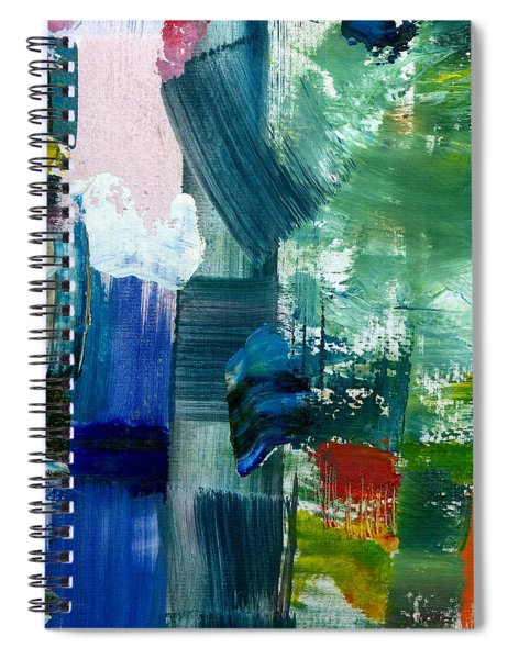 Abstract Color Relationships Lll Spiral Notebook