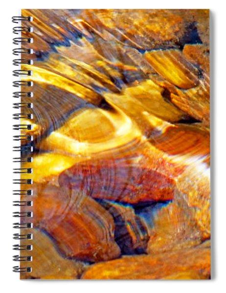 Abstract Creek Water 4 Spiral Notebook