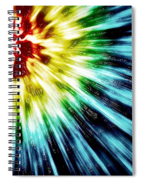 Abstract Dark Tie Dye Spiral Notebook