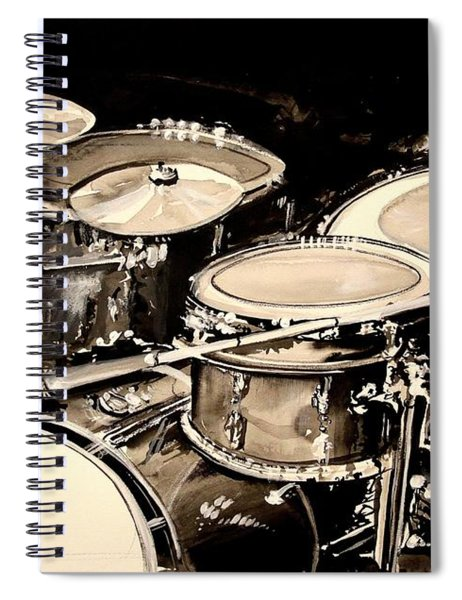 Abstract Drum Set Spiral Notebook