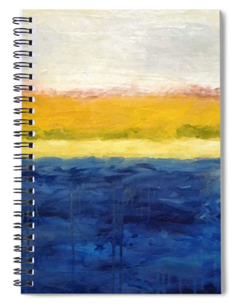 Abstract Dunes With Blue And Gold Spiral Notebook