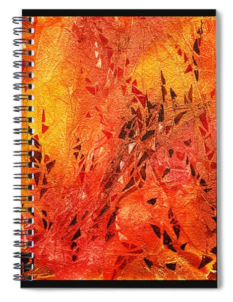 Abstract Fireplace Spiral Notebook