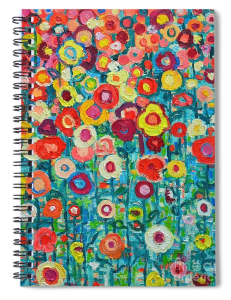 Abstract Garden Of Happiness Spiral Notebook