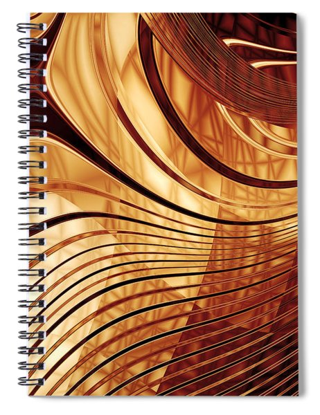 Abstract Gold 2 Spiral Notebook