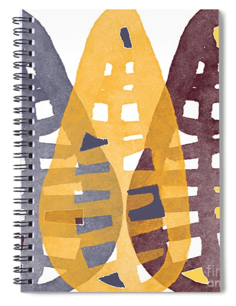 Abstract Indian Corn Spiral Notebook