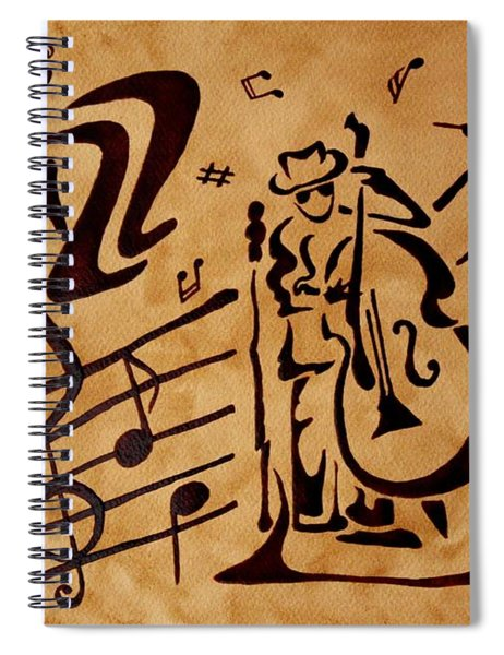 Abstract Jazz Music Coffee Painting Spiral Notebook