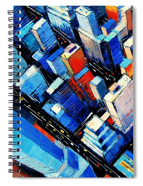 Abstract New York Sky View Spiral Notebook