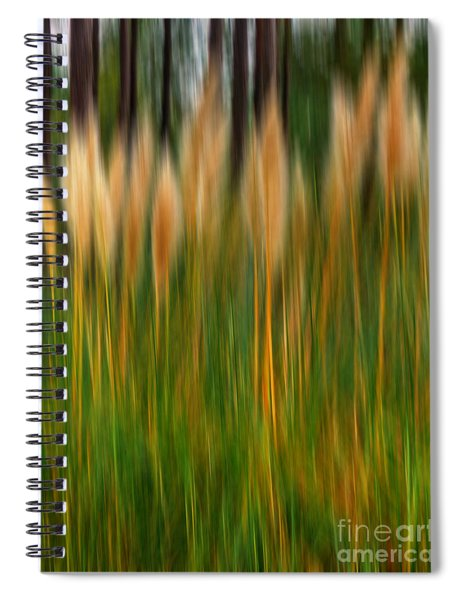 Abstract Of Movement Spiral Notebook