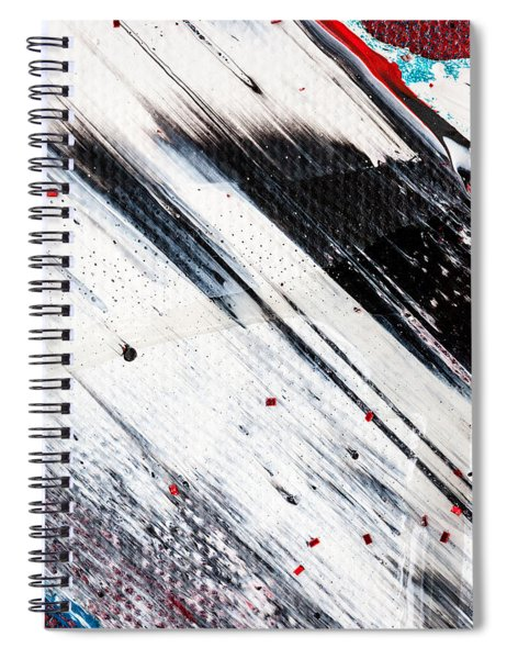 Abstract Original Artwork One Hundred Phoenixes Untitled Number Eight Spiral Notebook