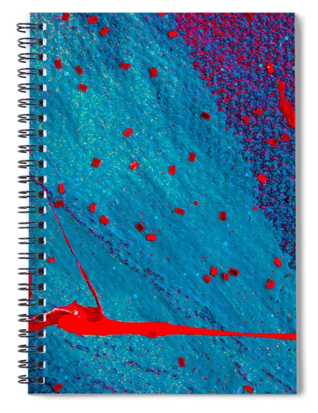 Abstract Original Artwork One Hundred Phoenixes Untitled Number Eleven Spiral Notebook