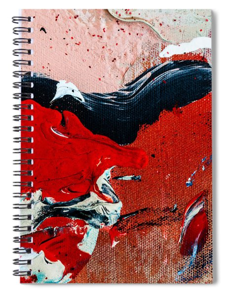Abstract Original Artwork One Hundred Phoenixes Untitled Number Four Spiral Notebook