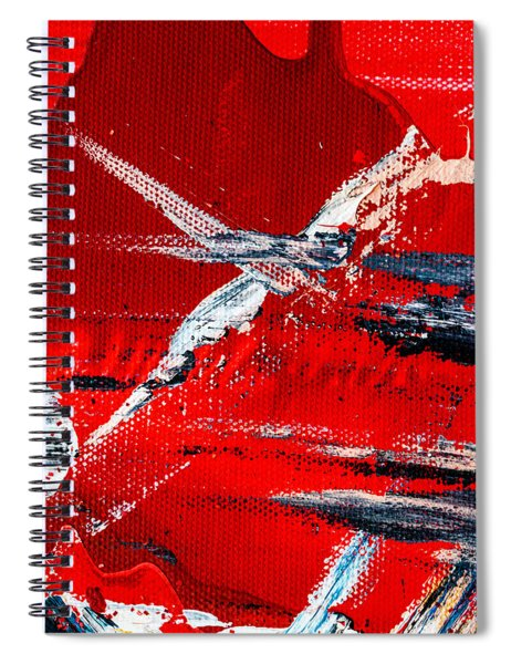 Abstract Original Artwork One Hundred Phoenixes Untitled Number Seven Spiral Notebook
