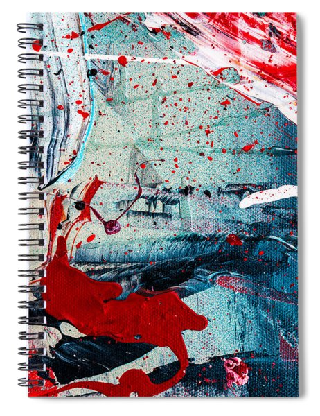 Abstract Original Artwork One Hundred Phoenixes Untitled Number Six Spiral Notebook