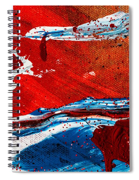 Abstract Original Artwork One Hundred Phoenixes Untitled Number Three Spiral Notebook