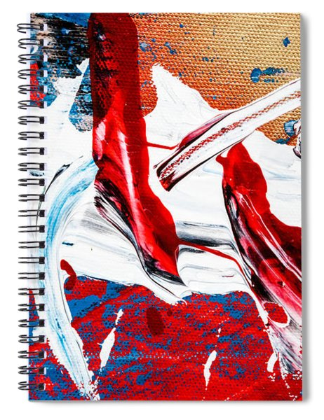 Abstract Original Artwork One Hundred Phoenixes Untitled Number Two Spiral Notebook
