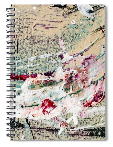 Abstract Original Painting Number Eight Spiral Notebook