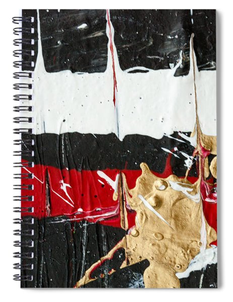 Abstract Original Painting Number Five Spiral Notebook
