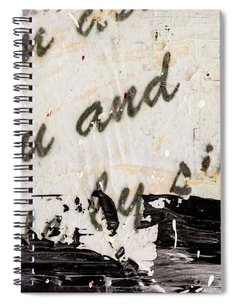 Abstract Original Painting Number Six Spiral Notebook