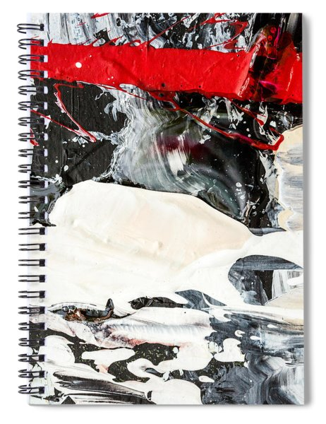 Abstract Original Painting Number Three Spiral Notebook
