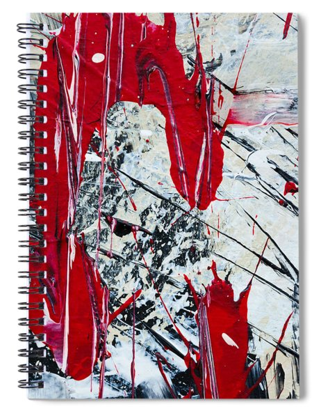 Abstract Original Painting Untitled Nine Spiral Notebook