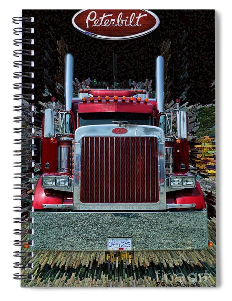 Abstract Peterbilt Spiral Notebook