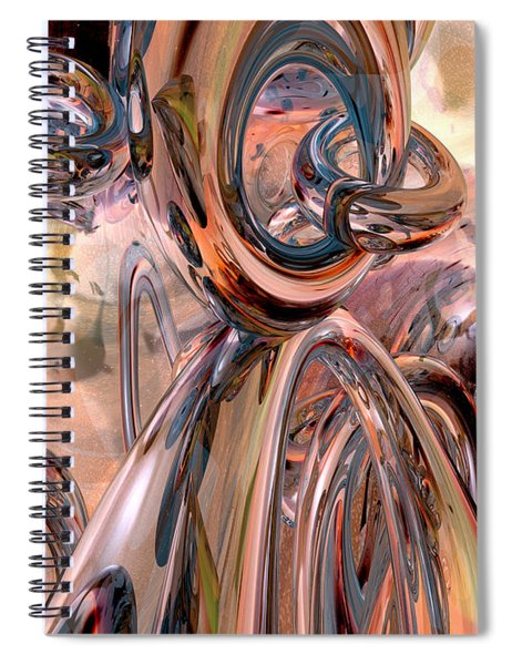 Abstract Reflecting Rings Spiral Notebook